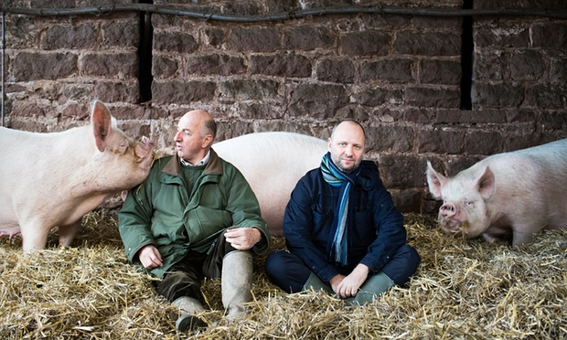Richard Vaughan, Huntsham Farm, supplies Simon Rogan, L'Enclume, Fera and The French. Photograph: Harry Borden for Observer Food Monthly